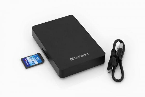 Pevný disk Verbatim Store 'n' Go USB 3.0 se čtečkou na SD karty