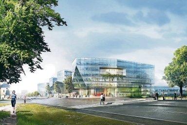 U stanice metra Bořislavka roste stejnojmenné administrativně-obchodní centrum.
