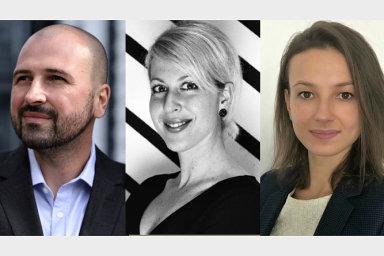 Ondřej Hlásek, Michaela Brodecká a Natalia Lupusor, tým online služby DOK