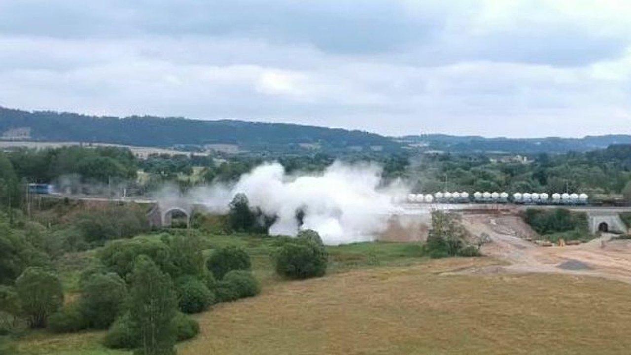 Amatérské záběry železniční nehody u Mariánských Lázní