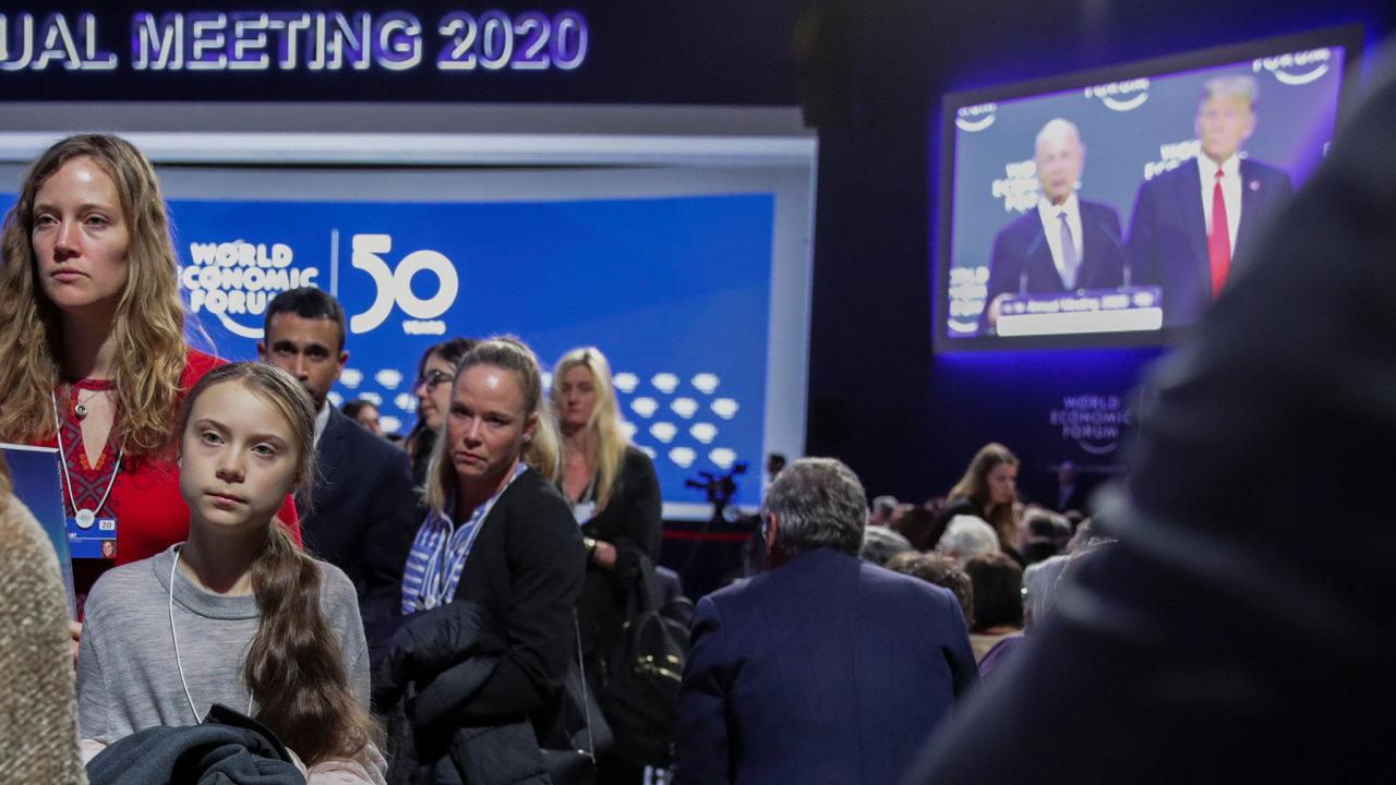 Světové ekonomické fórum v Davosu Thunberg