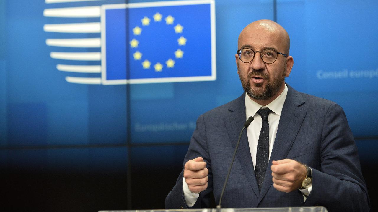 předseda Evropské rady Charles Michel