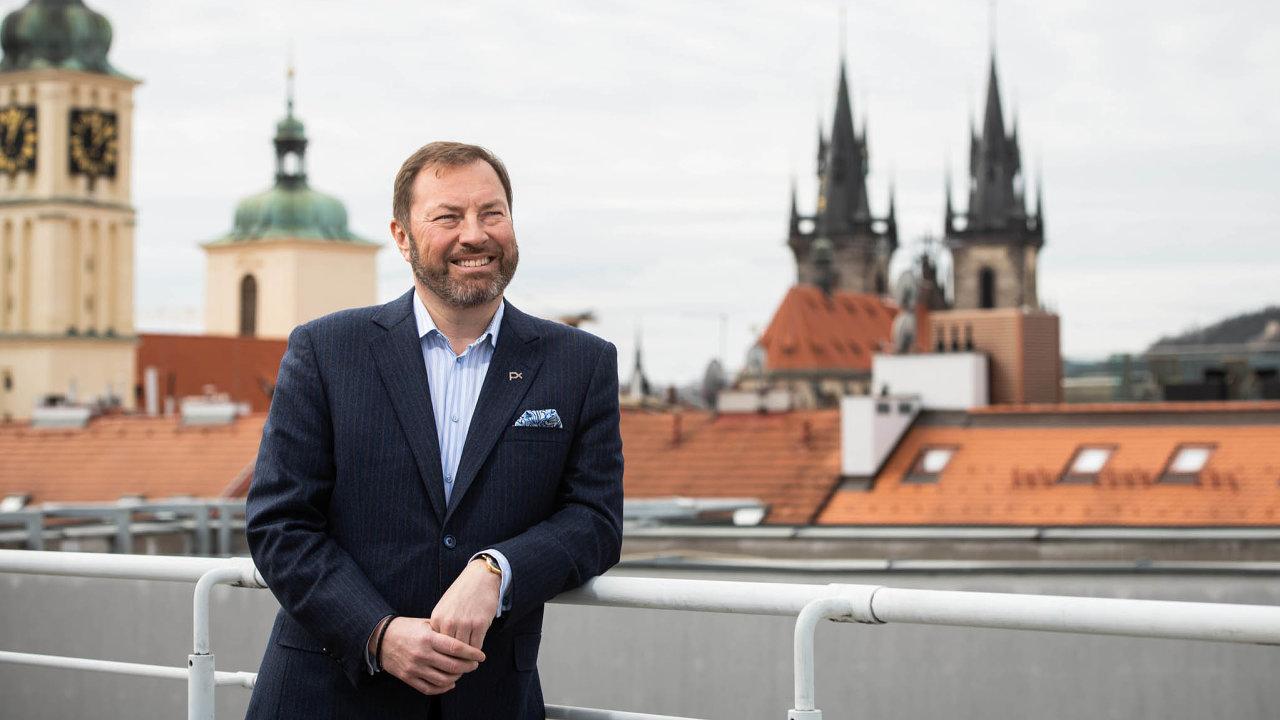 Šéf burzy se může usmívat. Petr Koblic zBurzy cenných papírů Praha prosadil tržiště Start jako alternativu pro menší firmy.