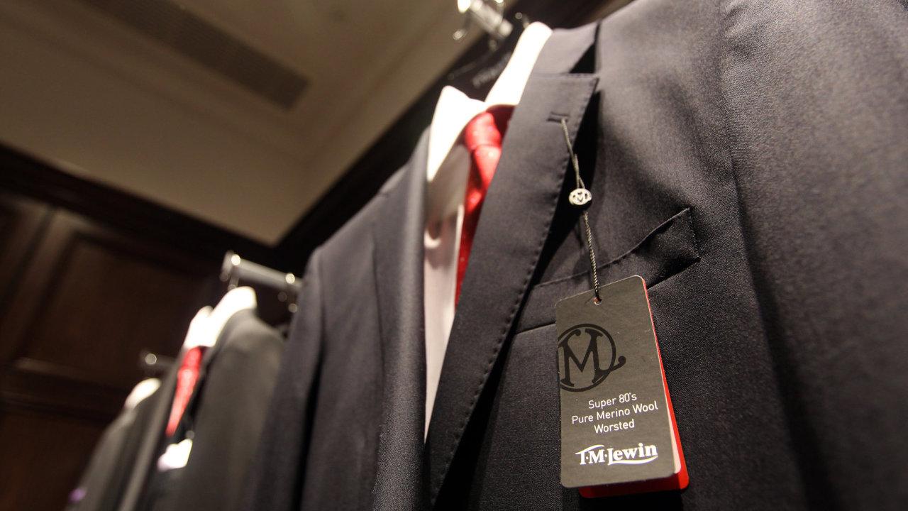Obchod oděvní značky T.M. Lewin.