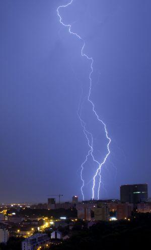 Noční bouřka v Praze