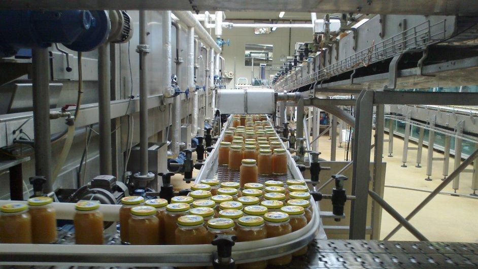 Výrobní linka přesnídávek Hamé v Podivíně.