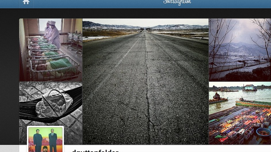 Snímky KLDR Davida Guttenfeldera na Instagramu