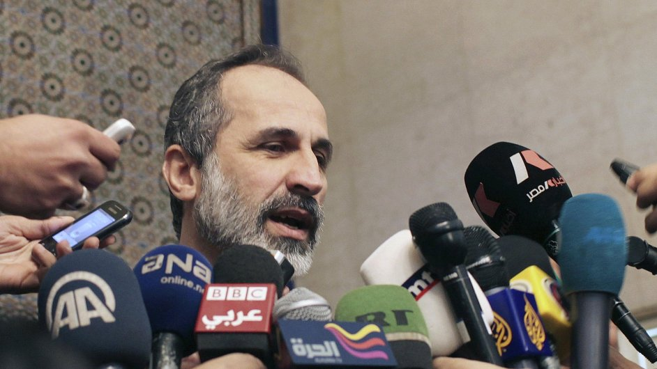 Vůdce syrské opoziční koalice Muáz Chatíb