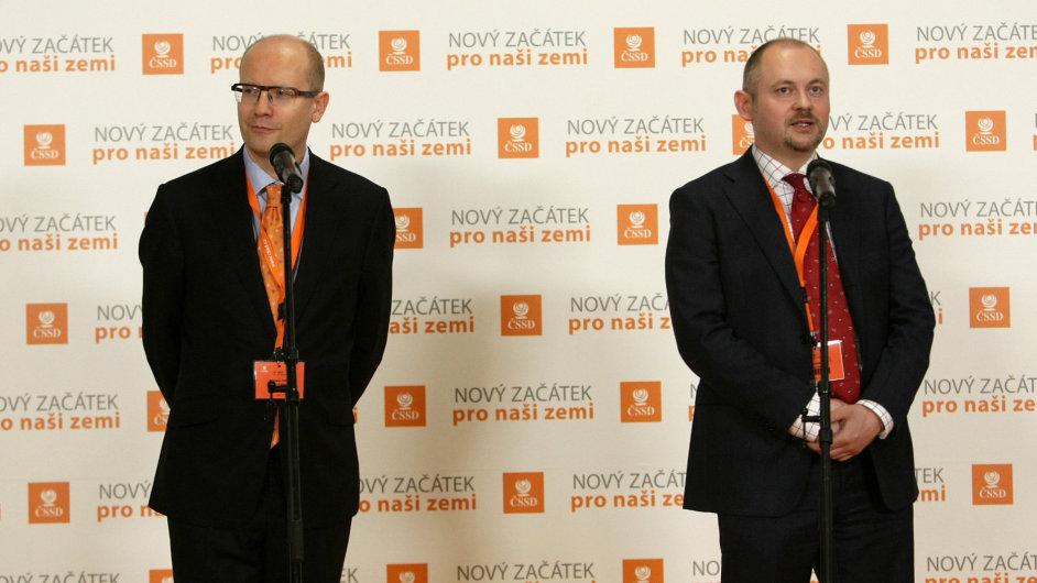 Rivalové Bohuslav Sobotka a Michal Hašek.