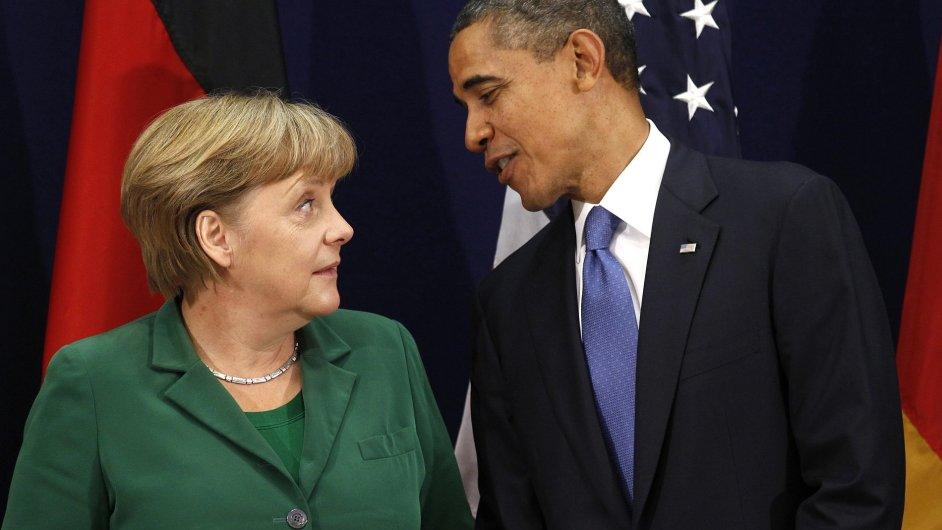 Německá kancléřka Angela Merkelová a americký prezident Barack Obama