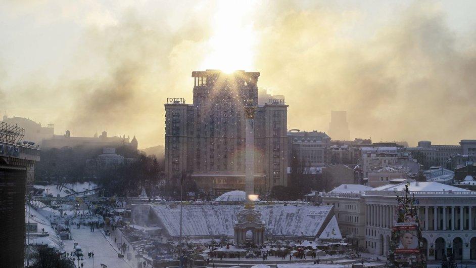 Náměstí Majdan v Kyjevě