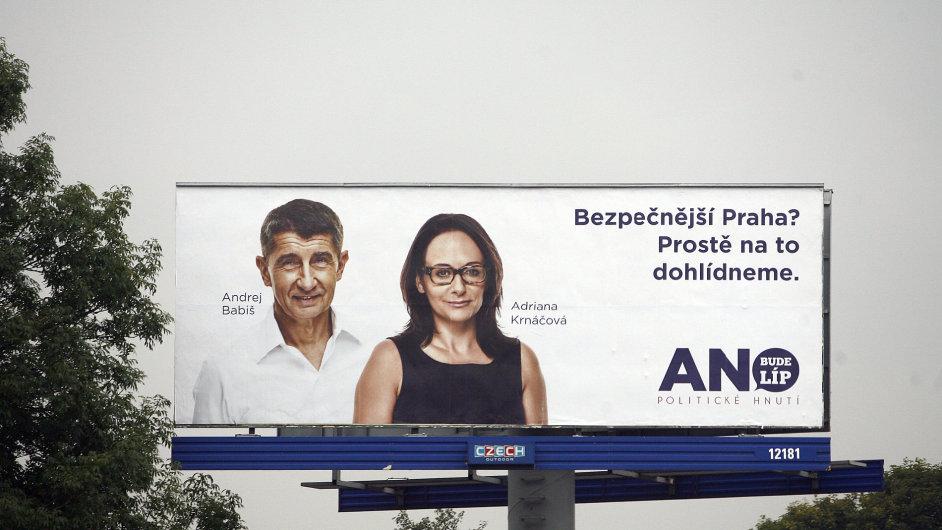 Předvolební billboardy hnutí ANO pro komunální volby 2014