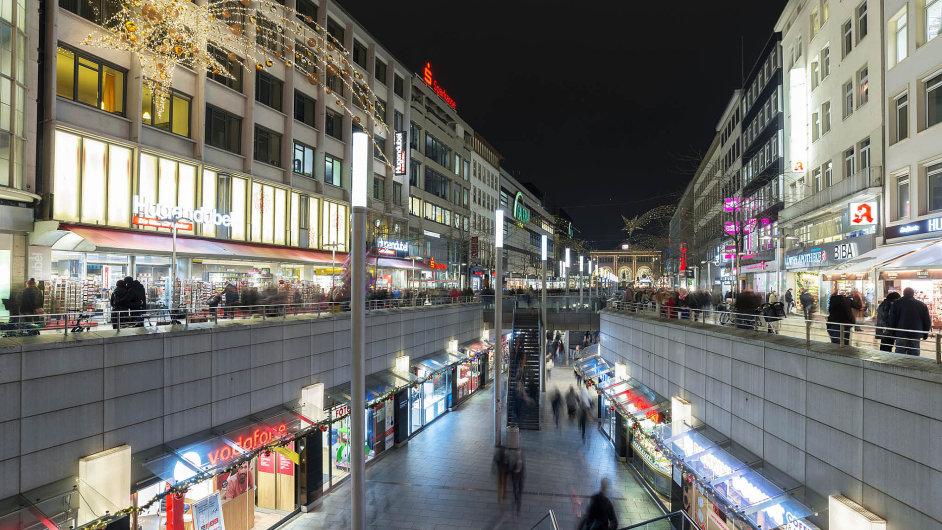Německé maloobchodní tržby v prvním čtvrtletí prudce stouply.