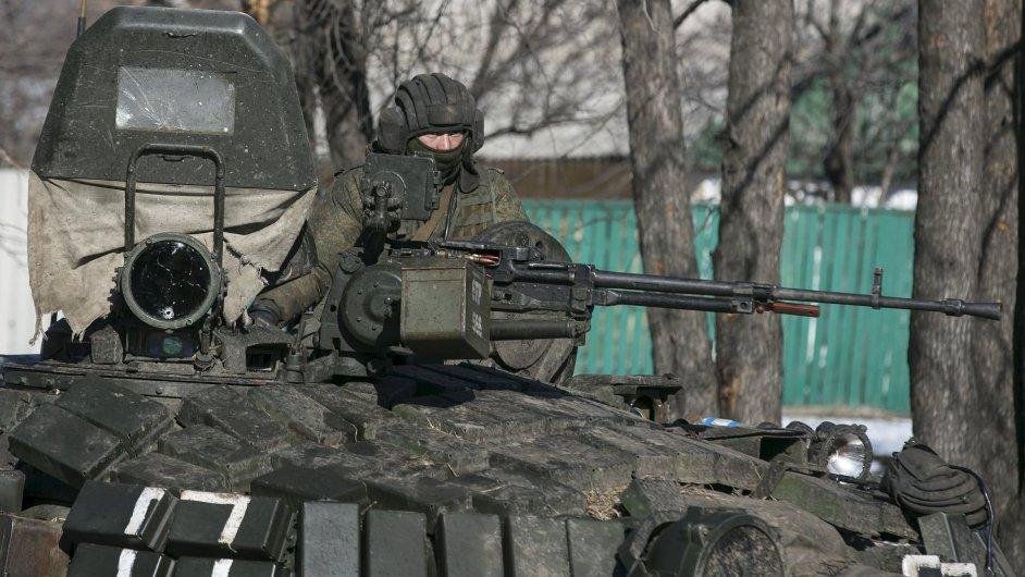 Separatista v takzvané Doněcké republice (ilustrační foto)