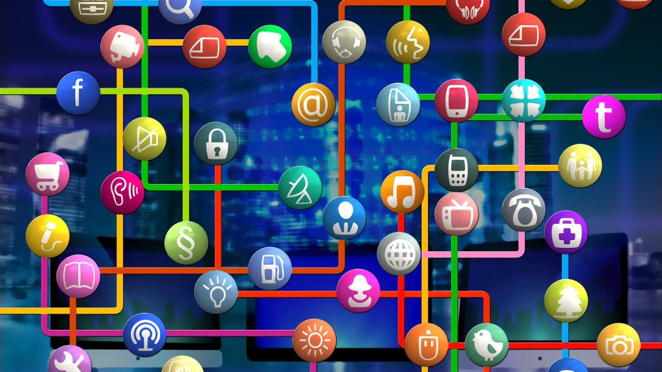Internet, e-mail, e-shop, emailing, ilustrace