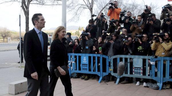 Španělská princezna Cristina se svým manželem Iňakim Urdangarinem.