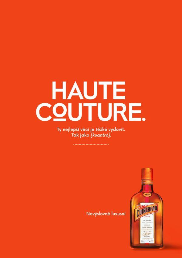 Reklama na likér Cointreau vysvětluje, že nejlepší věci jsou často nevyslovitelné