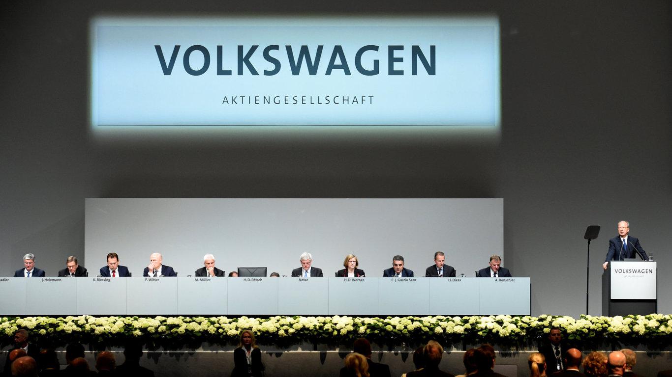 Valná hromada akcionářů Volkswagenu v německém Hannoveru.