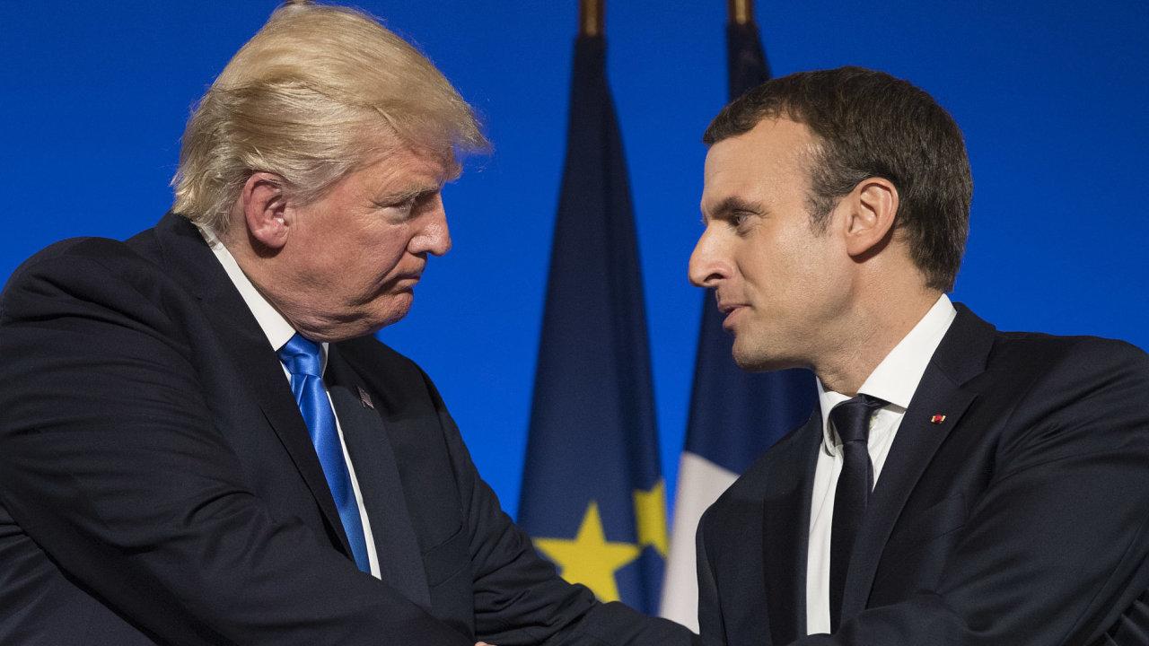 Trump, Macron, návštěva
