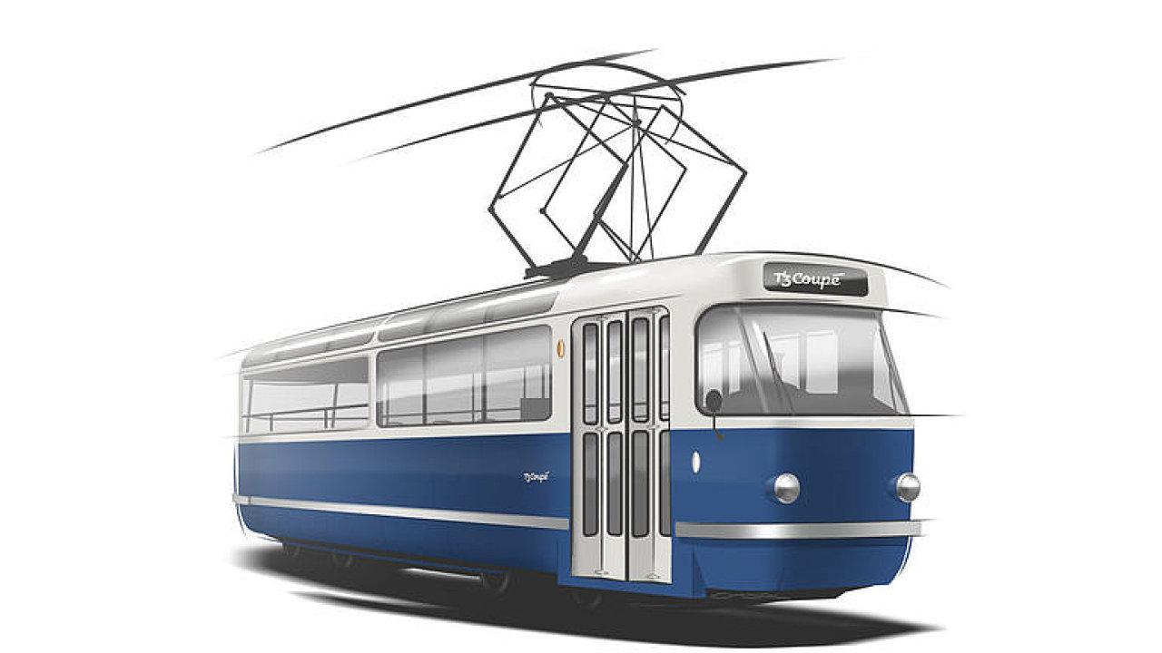 Takhle bude vypadat nová výletní tramvaj pro Prahu T3 Coupé