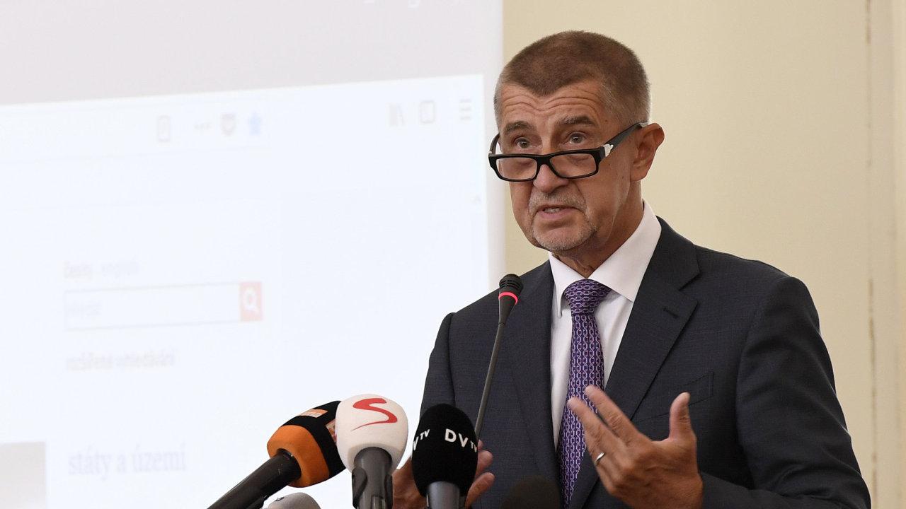 Premiér Andrej Babiš vystoupil 27. srpna 2018 v Praze na poradě vedoucích zastupitelských úřadů ČR v zahraničí.