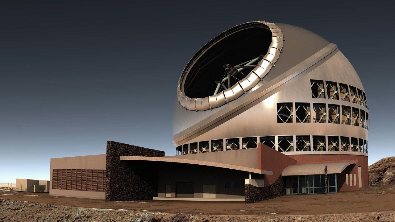 Dalekohled TMT zatím existuje jenom jako počítačový model, jeho 60metrová kopule bude vyšší než petřínská rozhledna.