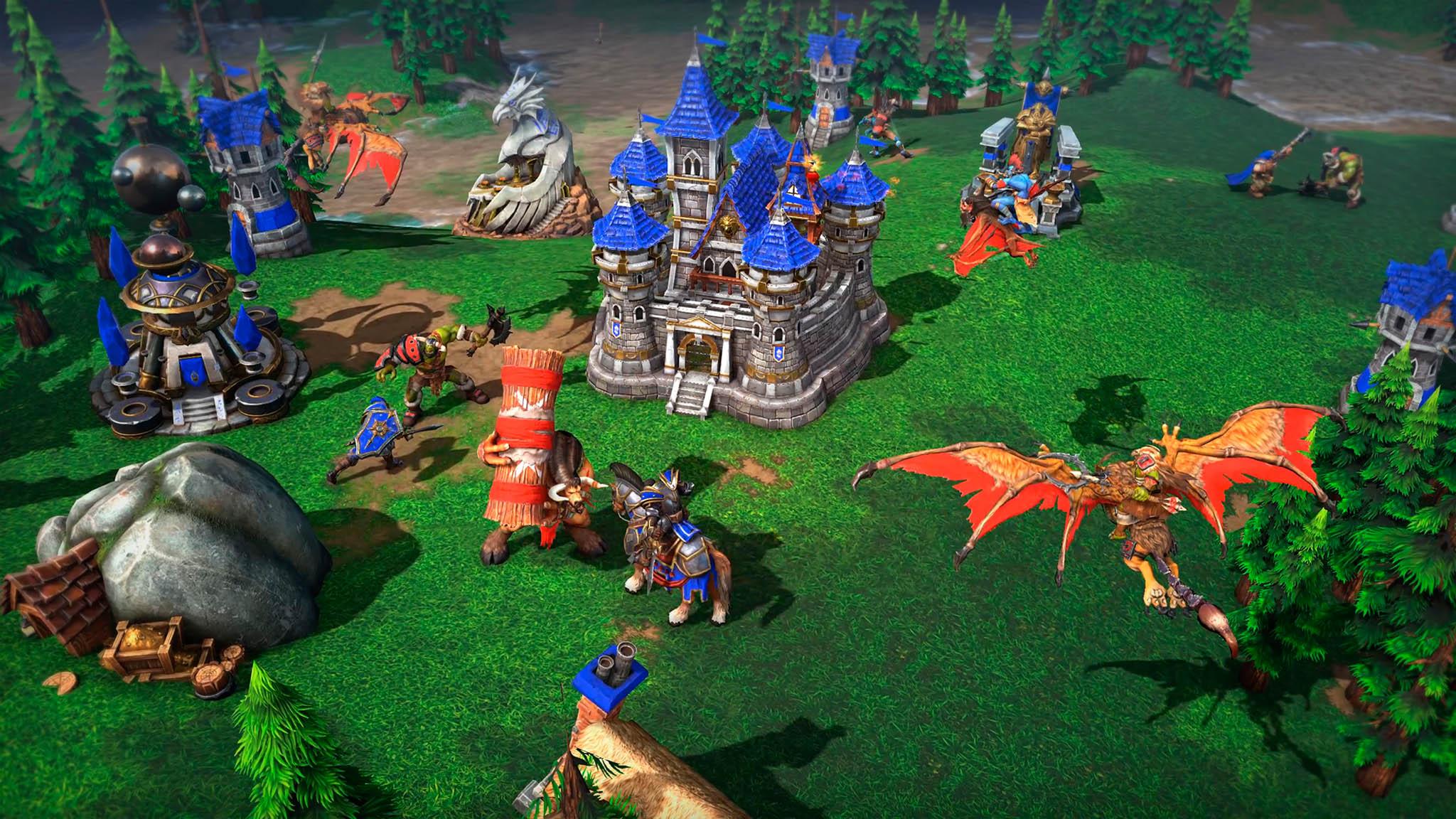 Inovovaná verzi legendární hry WarcraftIII: Reign of Chaos s novým názvem WarcraftIII: Reforged má výrazně vylepšenou grafiku.