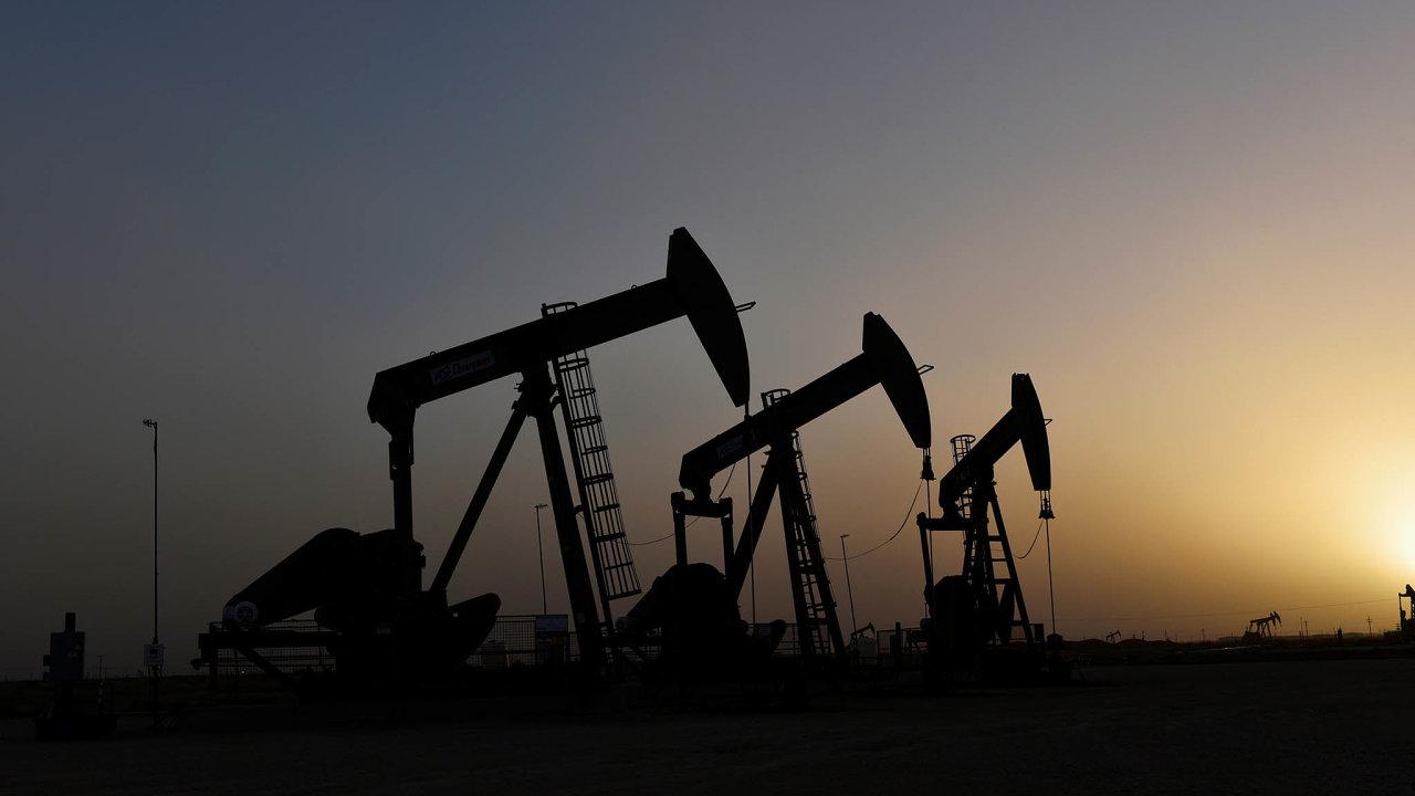 Ropa zbřidlic se těží například vPermské pánvi, oblasti, která je asi trojnásobně větší než Česko. Zasahuje dostátů Texas aNové Mexiko. Nasnímku jsou těžební pumpy uměsta Midland vTexasu.