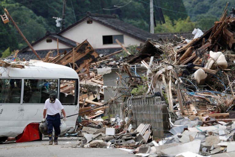 Japonsko povodně