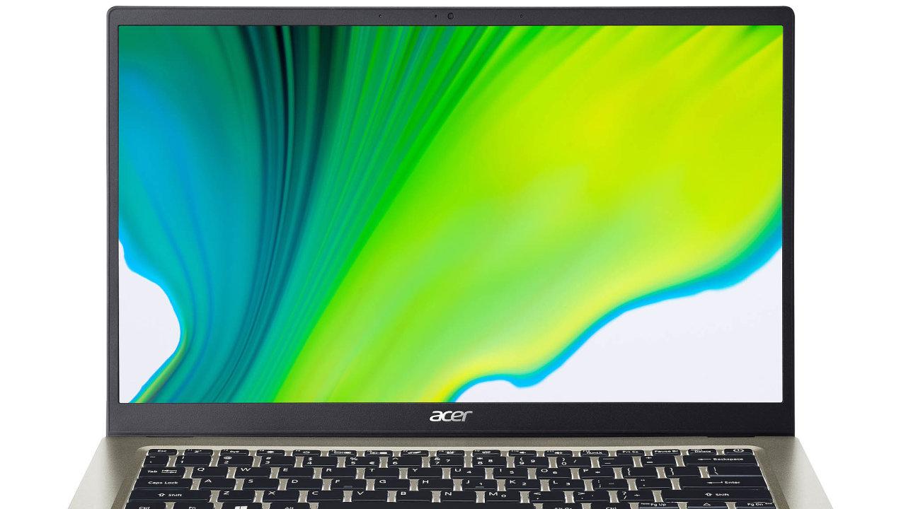 Acer Swift i v této cenové kategorii nabízí úložiště SSD o dostačující velikosti 128 GB, podsvícenou klávesnici a čtečku otisků prstů.