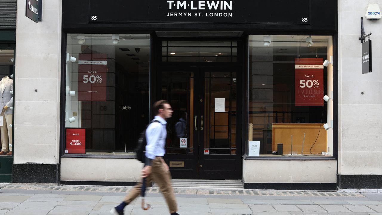 Obchod oděvní značky T.M.Lewin.
