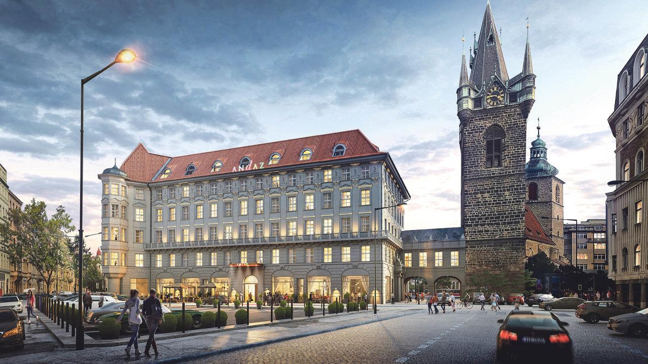 Hotel Andaz Prague naSenovážném náměstí vcentru Prahy se hostům otevře vúnoru příštího roku.