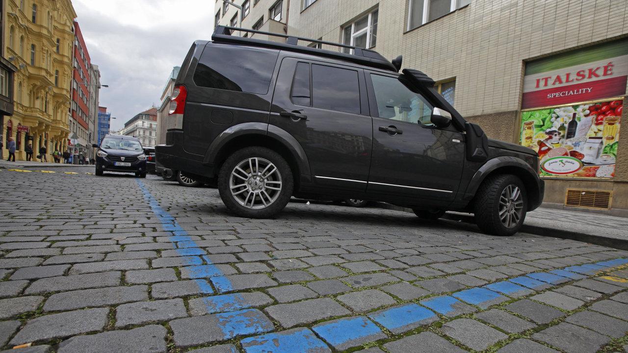 parkovací zóna, parkování, modrá zóna