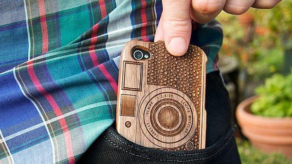 Dřevěné pouzdro Wood Camera iPhone Case