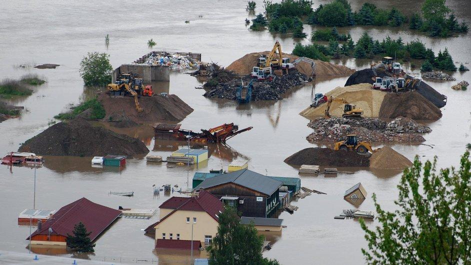 Povodně v Radotíně