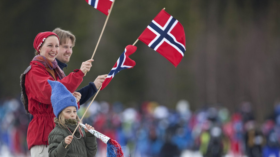 Norové běžecké lyžování milují.