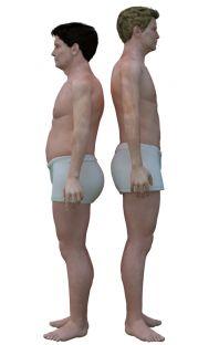 Modely postav průměrných můžů podle národností