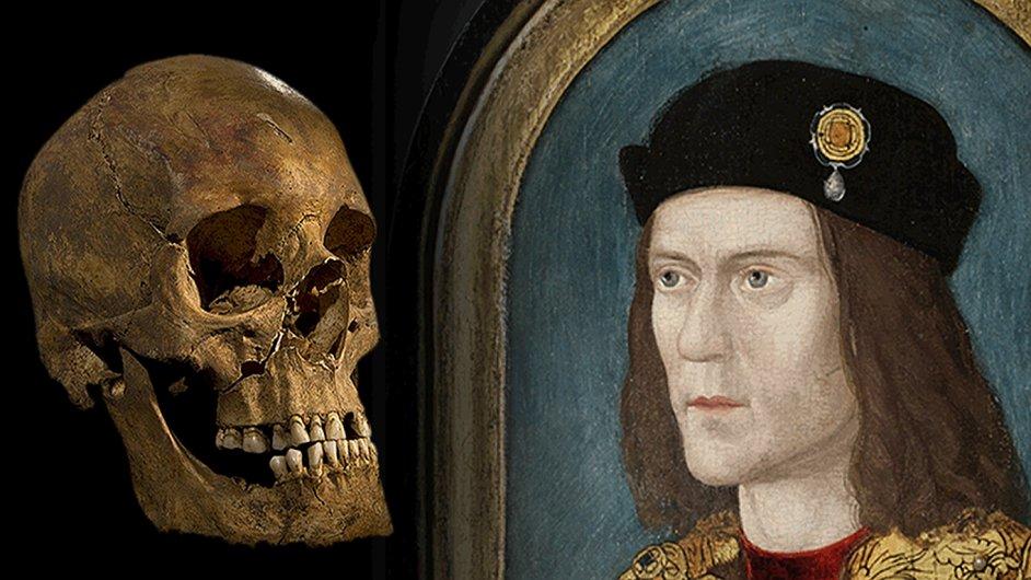 Srovnání lebky a portrétu krále Richarda III.