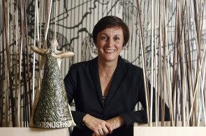 Vyhlášení Osobnosti HR 2014. Na snímku vítězka Monika Rousová - 2N telekomunikace