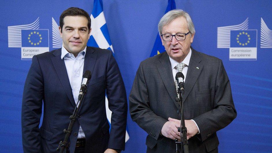 Řecký premiér Alexis Tsipras na pátečním setkání s předsedou Evropské komise Junckerem