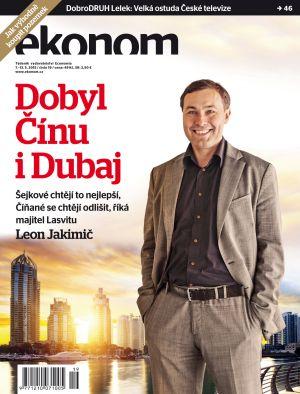 Ekonom, titulní strana - Leon Jakimič