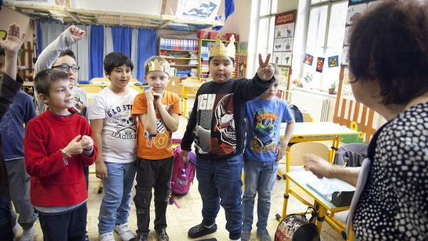 Žáci druhé třídy Základní školy Grafická (ilustrační foto).