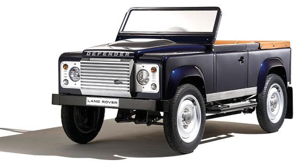 Dětský Land Rover Defender, šlapací autíčko.