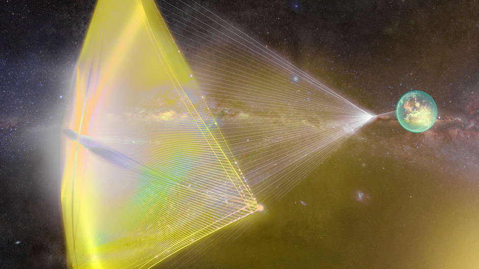 Breakthrough Starshot - koncept nano plavidel