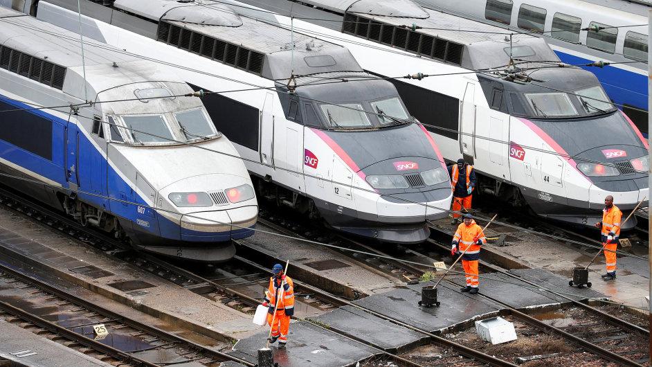 Francie stávka železničářů