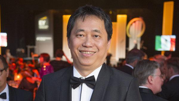 Malajsijský podnikatel roku Say Jim Tan na slavnostním vyhlášení soutěže EY Světový podnikatel roku 2016.