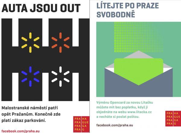 Praha představila 15. srpna nové plakáty od designéra Pavla Fuksy, chce jimi upozorňovat na důležitá témata.