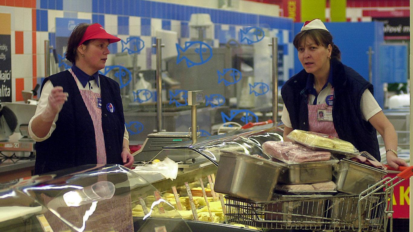 Práce v supermarketu, ilustrační foto