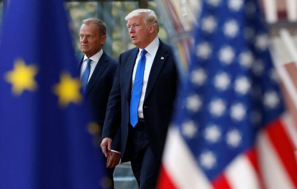 Donald Tusk a Donald Trump.