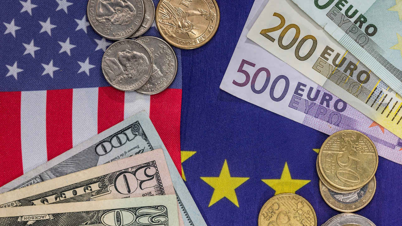 EU, USA, dolar, euro, měna, kurz